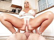 Brittany O�Neil can�t believe how incompetent her plumber is. He set the hot to cold and Brittany has some prep to do in the kitchen. He might not be able to fix her kitchen pipes but Brittany can count on him plunging her holes!!!