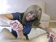 milf jacks off young guy handjob