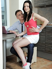 Cutie shagged by the horny boss in his office