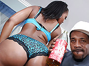 Ghetto cunt with a magnificent ass gets some rough black love