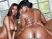 Cheap ghetto sluts with massive butts dancing on the cock
