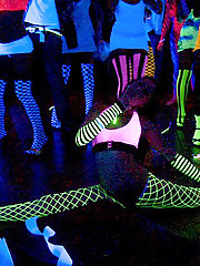 Super hot raver babes mastebate and get drilled hard in these hot glow body paint fucking cumfaced group sex pics