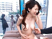 Yui Hatano pussy are boobs shown and tits pressed hard