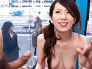 Yui Hatano giving blowjob to a mans cock and gets penetrated