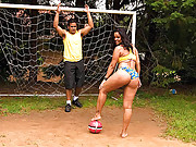 Watch this hot big ass brazilian babe get fucked hard on the soccer field in these amazing hot 4 vids