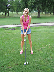 Naked on the golf course