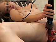 Amateur blond 20yrold machine fucked in her ass n pussy, does DP!