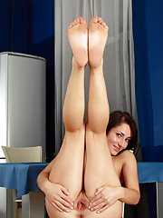 Check out this hot babe Grisha as she spreads her legs and shows some finger play with her pussy