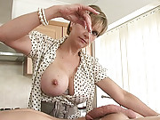 British mature hotwife cum milking