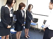 Japanese AV Model and other cuties dressed in their work attire