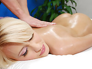 Hot blonde 18 year old gets fucked hard by her massage therapist