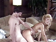 Real retro mustache man fucks a naked chick