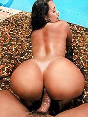 Big tits hot ass long black hair brazilian get nailed in her bikini ass poolside hot pics