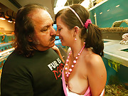 Young slut at aquaium gets picked up by old geezer!
