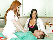 Dr Deville gets the best out of her patients by fucking them hard