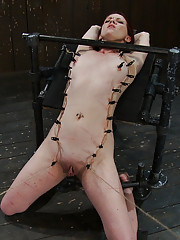 Girl next door gets caned, flogged, zippered and made to cum over and over!  Brutal orgasms!