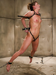 Ariel X takes the stress, the double penetration, the cattle prod, the zippers, the electric plug, just to cum. Win win? I think so.