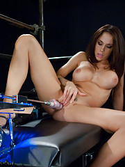 Chanel Preston, Alexa Jaymes and Natasha Nice - all shagged to cum space by specialized machines that fucked them like heat sinking pussy missiles.