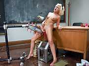 Hot blond finds her shop teacher