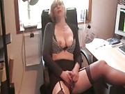 Sexy secretary gets naughty in the office