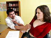 Charlotte Vale isn�t at the head of the class so she�s staying after to retake a mid-term. Her proctor has heard some dirty rumors about Charlotte and wants to see if he she�s as naughty as her reputation. He gives her the choice: give him an oral present