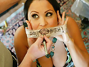 MILF Sophia get covered with jizz after a long and hard bondage fuck!
