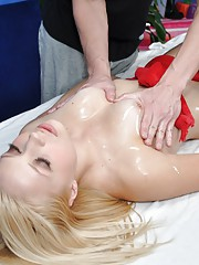 Sexy 18 year old cutie gets fucked hard from behind by her massage therapist