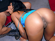 Check out this hot big round booty black babe get fucked hard by the stripper pole hot reality vids