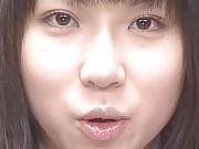 Reika Midoh cutie with sperm dripping down her chin