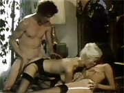 A retro horny hardcore threesome with girls