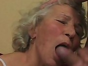Old granny gives nice sloppy blowjob
