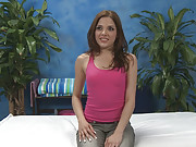 Sexy brunette fucks and sucks her massage therapist