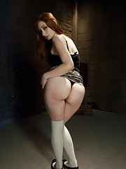Redhead gets ass punished and hardcore anal domination.