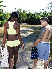 Stacked hot ass black babe gets nailed hard in these tree house fucking reality outdoor vids hot