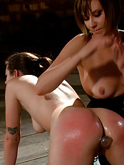 Porn star Kristina Rose and amateur Missy Minx are whipped, plugged, clamped and butt fucked into submission by Maitresse Madeline live.