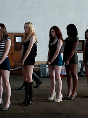 Day 1- Seven Slave Intake - Seven slaves are are put through the paces in order to determine who will be dismissed.