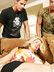 Summer Sinn is taking a nap when her son