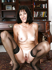 Office MILF Sydney from AllOver30 is getting bored and very horny