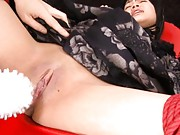 Hikaru Momose wet pussy massaged with various sex toys