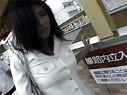 Horny asian uses a remote controlled vibrator