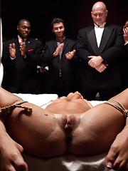 Nicki Blue honors The Upper Floor with the deflowering of her vaginal virginity with 1 of 3 lucky men.