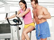 Willing cutie fucking her fitness instructor