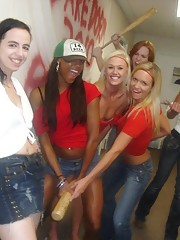 Real college dorm room babes fuck and get creamed in this group sex dorm room jellow shot party video
