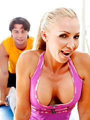 Naughty Brit Lisa Demarco has a brand new personal trainer.