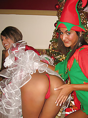 Having fun with the naughty elf Krissy