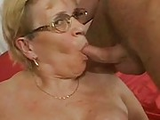 Cum all over grannys big tits