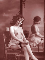 Very horny naked french postcards in twenties