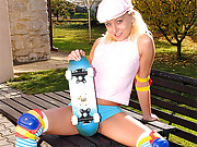 Teenage girl with skateboard fucked hardcore