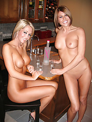 Naked party at home with Melissa