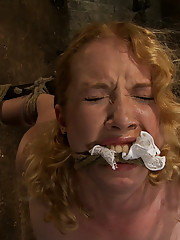 Hot 22yr red head is bound, suspended, man handled, abused, humiliated, made to cum like a common whore. Or as we like to call in on Hogited, Tuesday.